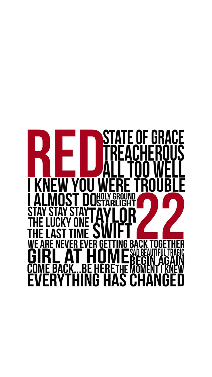 taylor swift red songs phone wallpaper!(1080 * 1920)