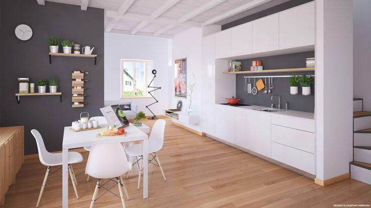 Oltre 25 fantastiche idee su pranzo soggiorno cucina su for Case vecchio stile costruite nuove