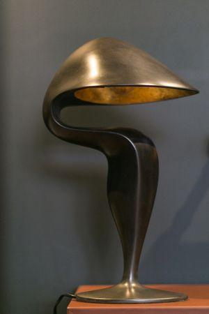 Michel Amar Black Swan Table Lamp at Les Ateliers Courbet - Cast Bronze - Desk Lamp