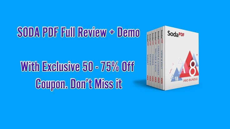 Soda PDF - Create , Edit, Convert, Sign PDF Easily GET COUPON HERE ►► http://www.thecheapsoftware.com/sodapdf Soda PDF is a set of internet tools that permit...