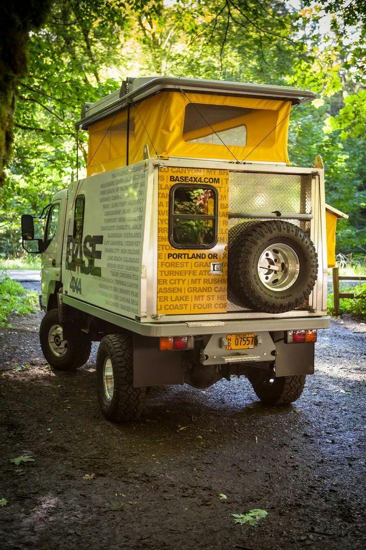 Base 4x4 Fuso based slide-on camper | Campers | Pinterest ...