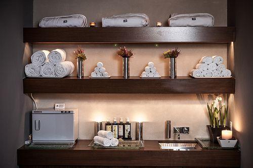 Spa Decorating Ideas Pictures: Een Mogelijkheid Voor Het Opbergen Van Handdoeken In Een