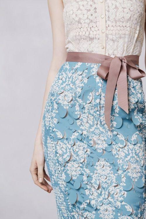 Laser cut sheath dress from Anthro...♥✤ | Keep the Glamour | BeStayBeautiful