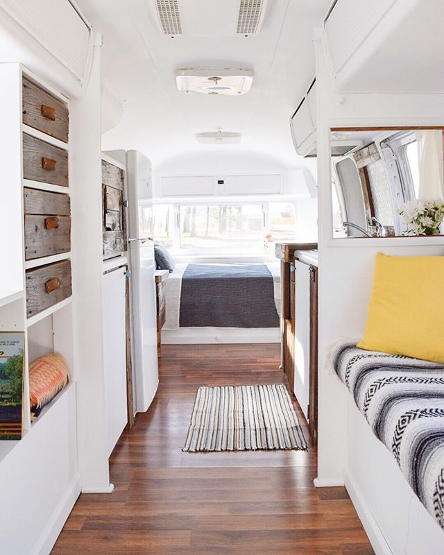 "Swipe to see ""the before"" of this space from when we first bought it!  Thanks for all your overwhelming support and interest in the Airstream. I've decided to go ahead and list it on Craigslist, so you can see the price and a little more detail by clicking the link in my bio. I know this lil' honey is going to find her new home soon.  - - #airstream #liverivited #airstreamliving #airstreamforsale #tinyhousetalk #tinyhouseideas #tinyhouselistings #beforeandafter #transformation #diy…"