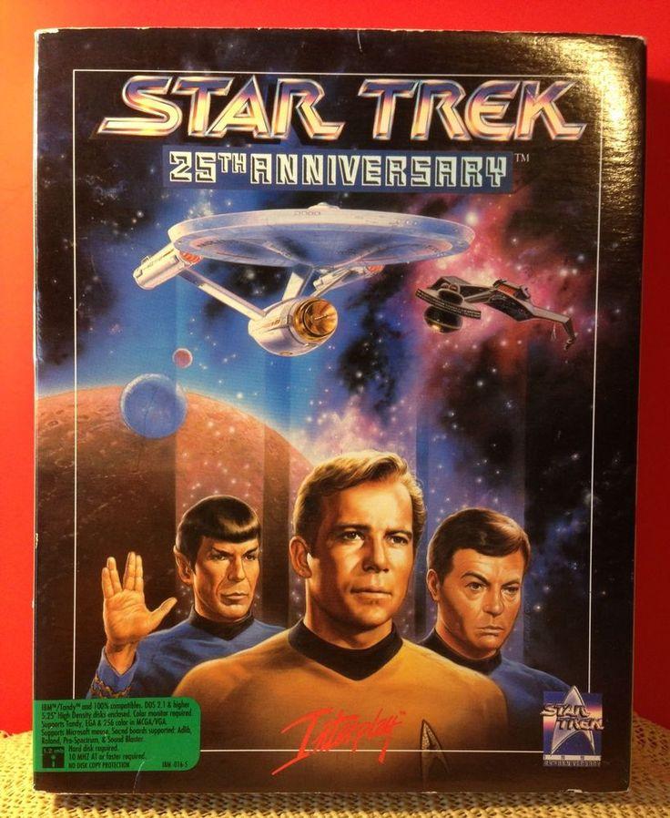 Vintage 1991 Interplay Star Trek 25th Anniversary Computer Game Gift Collectible