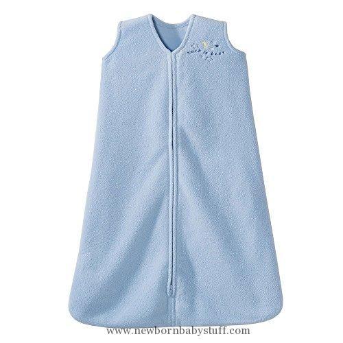 Baby Girl Clothes HALO SleepSack Micro-Fleece Wearable Blanket, Baby Blue, Medium