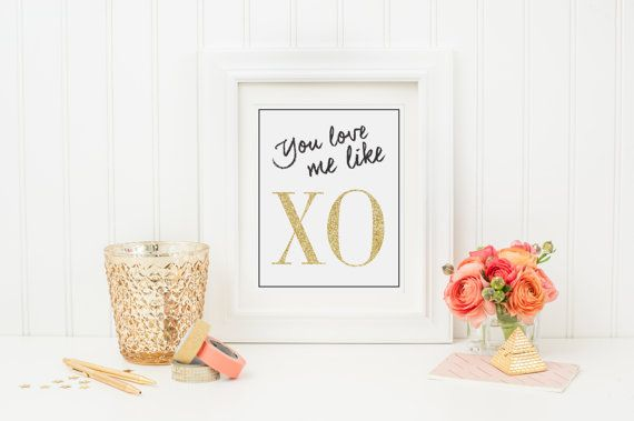 Beyonce-You Love Me Like XO Print-Art Print by SimplySolari