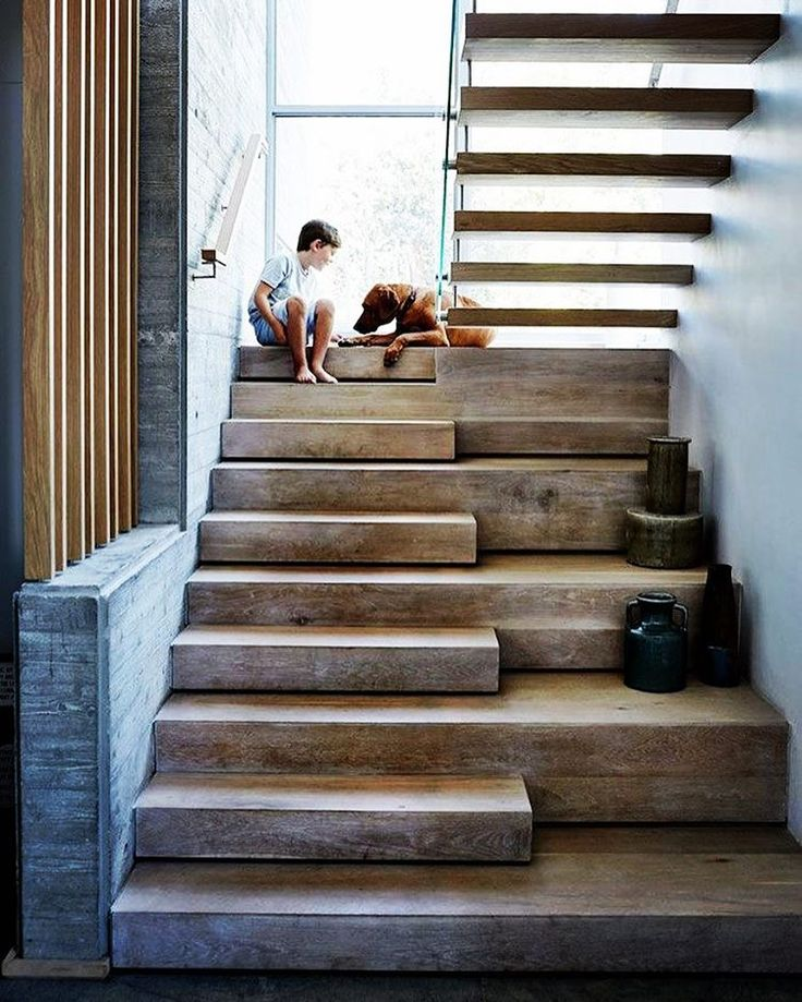 I Love These Stairs So Much The Chunky Timber With Those Alternate Treads Image Via Warren Heath
