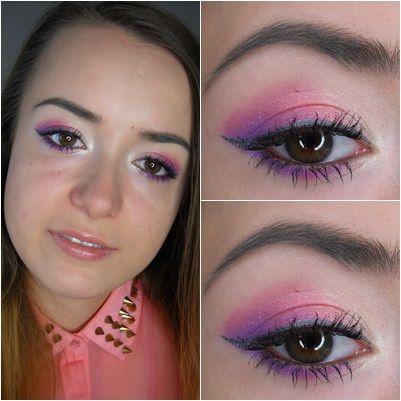 Little violet makeup