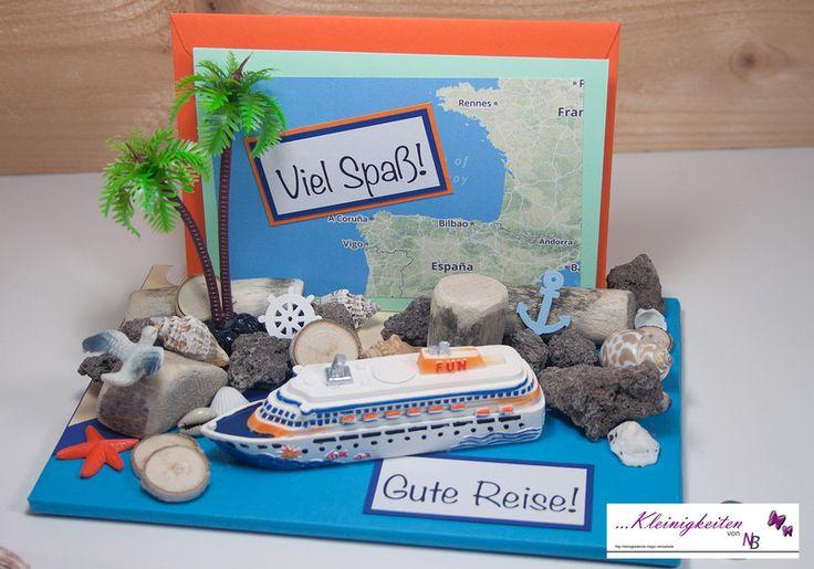 3D Karte Kreuzfahrt, Urlaubsgeld, Urlaub, Schiff von Kleinigkeiten von NB  auf DaWanda.com