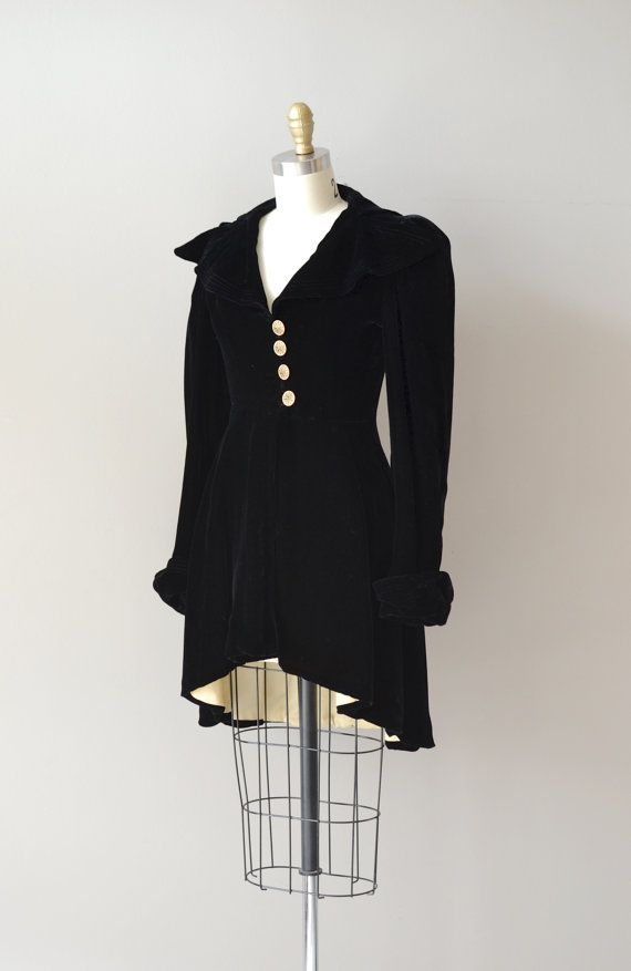 Way too small and way too expensive, but . . . Love!    Nachtmusik jacket / silk velvet 30s jacket / vintage by DearGolden, $224.00
