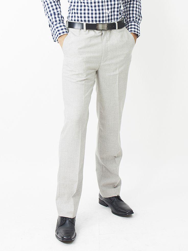 Slim Fit Dress Pant - Light Gray