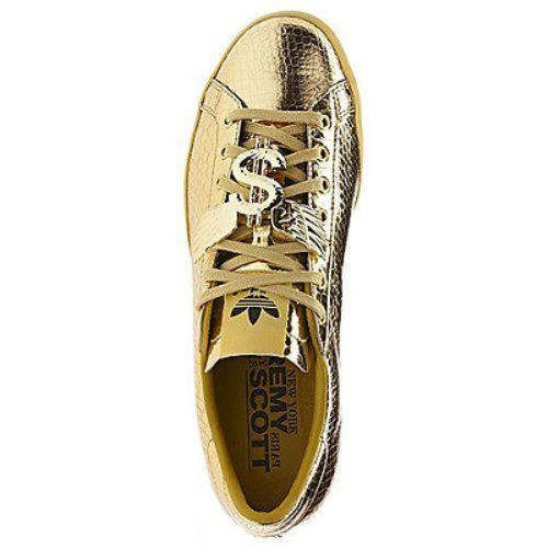 0bae0a81b063 Adidas Jeremy Scott GOLD MONEY SIGN Rod Laver Shoes Size 8 us D65861 ...