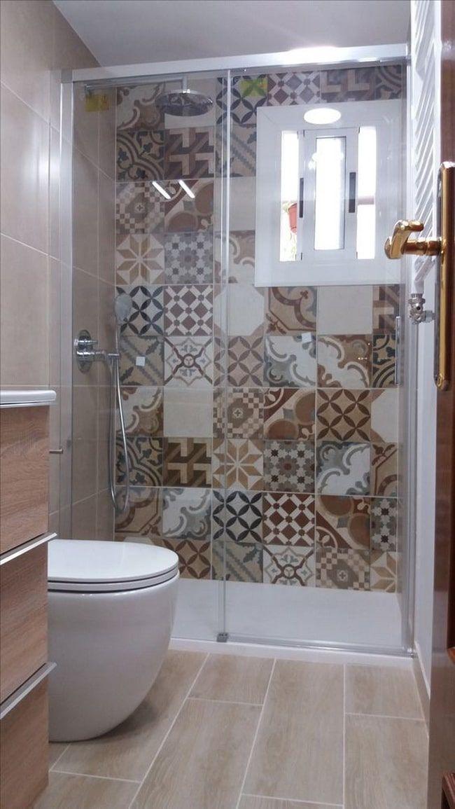 Cuarto Baño Con Losa Azulejos De Colores  new york