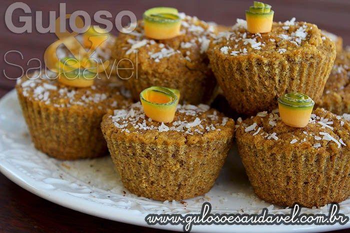 Receita de Muffins de Coco e Abóbora Sem Glúten