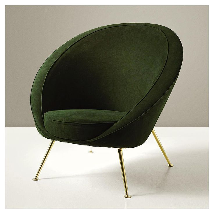 Mid Century Furniture Design, U0027Uovou0027 Chair Model No. 813 Ico Parisi,  Manufactured By Cassina, Meda, Italy. Brass Plated Metal With Fabric  Upholstery