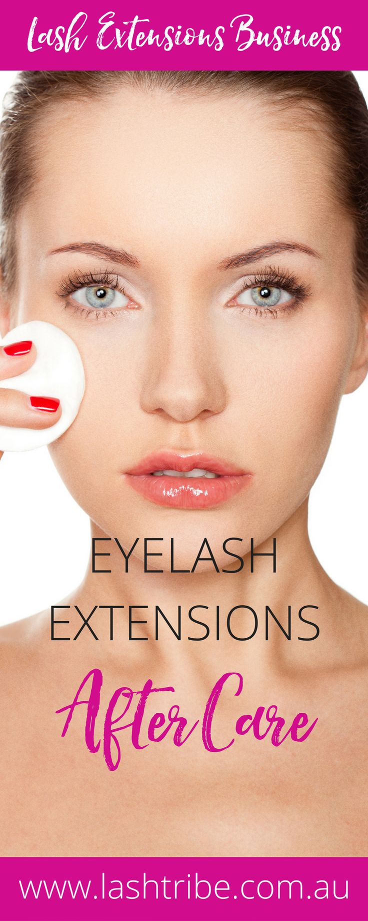 Eyelash Extensions After Care Video Tutorial | Not cleaning your lashes will result in oiliness, residue, dirt and grime build up in your lashes which will break down the lash glue. Oils and Lash glue don?t like each other. Learn more at http://lashtribe.com.au/2017/01/27/how-to-clean-your-eyelash-extensions/ | How to Clean Your Eyelash Extensions | Lashes Care Tips