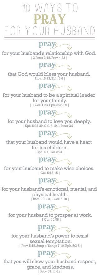 10 Ways to pray for your husband                                                                                                                                                                                 More