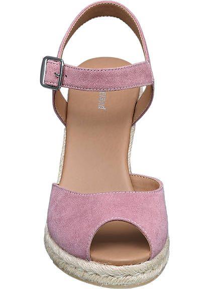 Różowe sandały na koturnie Graceland - 1240423 - deichmann.com
