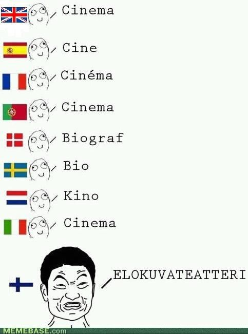 Not exactly correct on some of the translations, but a pretty good depiction of the craziness of the Finnish language