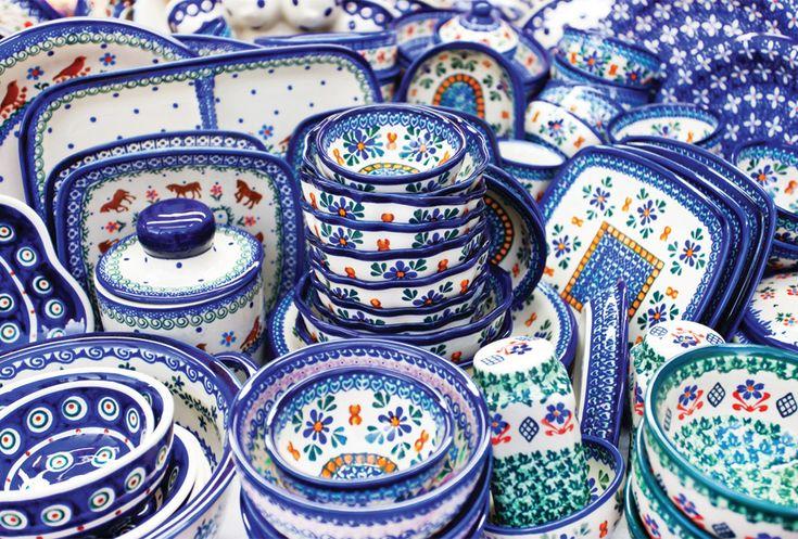 Traditional Polish pottery from Boleslawiec, Poland