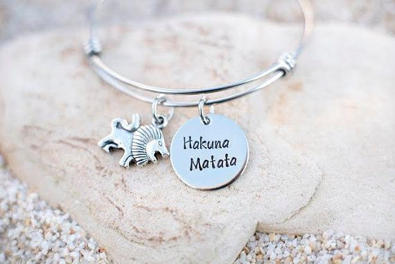 Jewelry - Bangle - Disney - Bracelet - Disney Jewelry - Gift - Hakuna Matata - Lion King