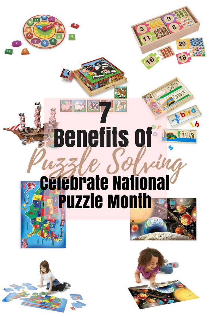 Happy National Puzzle Month! Check out the 7 important benefits of puzzling solving for your children. Also get an exclusive coupon code for 15% off puzzles!