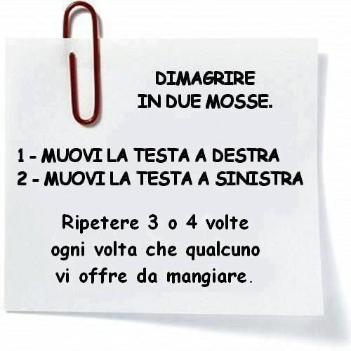 Dimagrire in 2 mosse. www.dimagrirecongusto.com