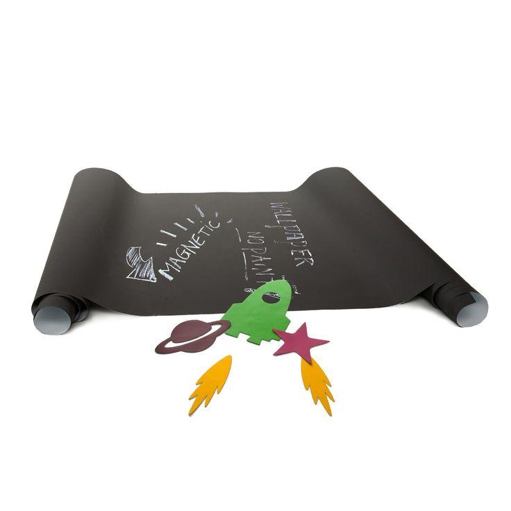 Wees creatief met dit magnetisch krijtbord behangpapier van Littlefashionaddict.