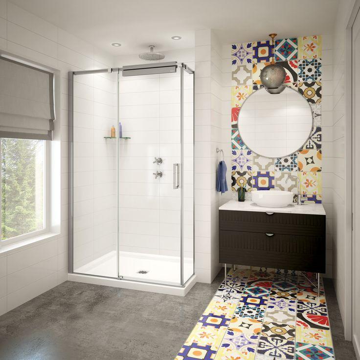 MAAX ModulR Half-Wall Shower.