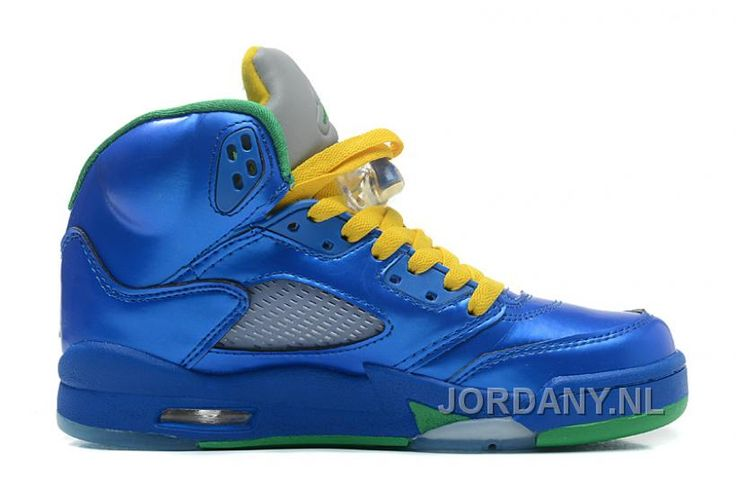 """http://www.jordany.nl/air-jordans-5-retro-easter-metallic-blueyellow-pine-green-for-sale.html AIR JORDANS 5 RETRO """"EASTER"""" METALLIC BLUE-YELLOW/PINE GREEN FOR SALE Only 75,85€ , Free Shipping!"""