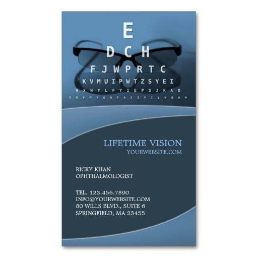 The 273 best business cards images on pinterest real estate optical ophthalmologist vision glasses business card its two sided with no additional charge colourmoves
