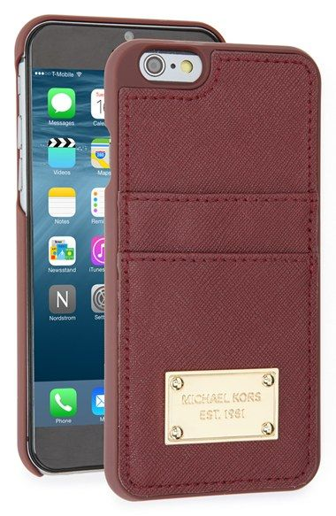 MICHAEL Michael Kors Card Holder iPhone 6 & 6s Case available at #Nordstrom