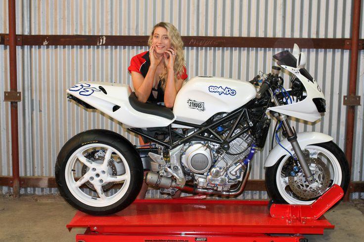 Our custom Yamaha TRX850 post build photo shoot.