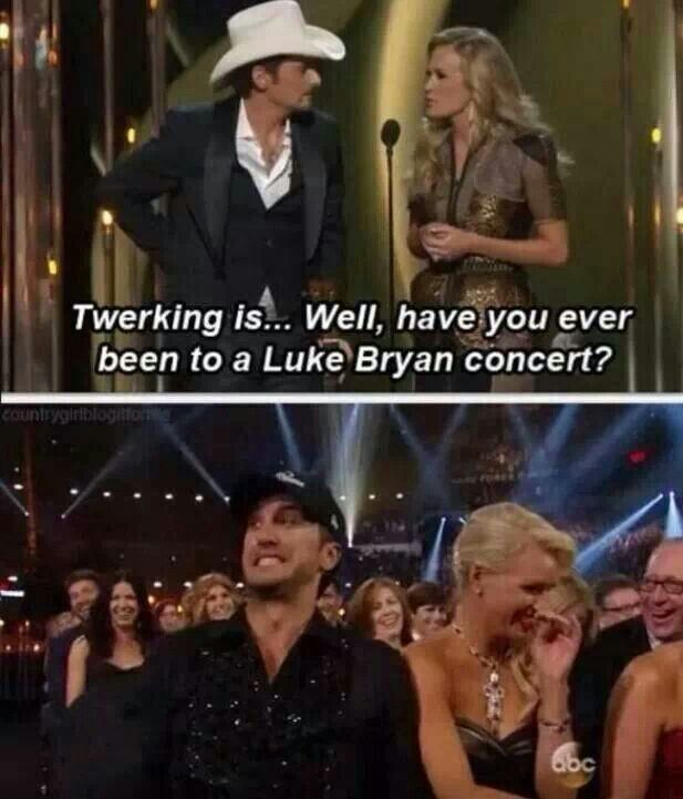 Sooo funny, even funnier when Brad Paisley says he thought that they were mini seizures :)