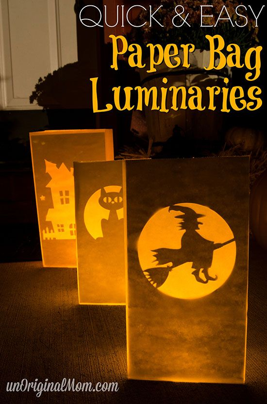 Make glowing Halloween paper bag luminaries with your Silhouette in less than 10…