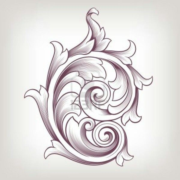 Images about filigree scrolls patterns acanthus leaf
