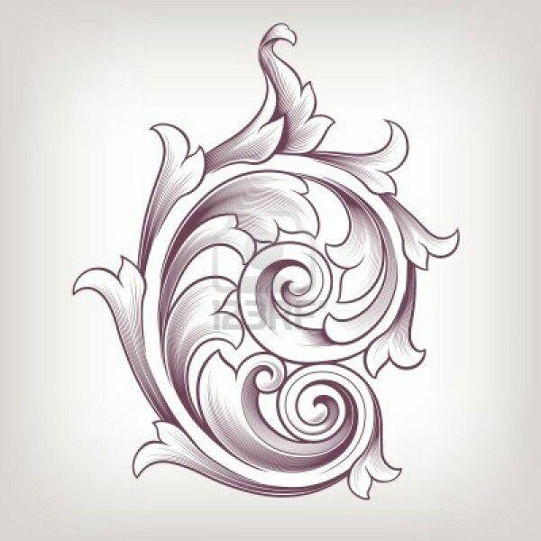 Images about filigree scrolls patterns acanthus leaf