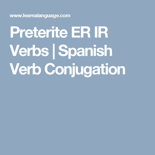 19 best Verbs - Preterite vs. imperfect images on Pinterest ...