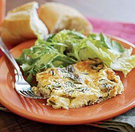 Crustless Quiche with Ham, Mushrooms & Chives. No mushrooms. Do ahead ...