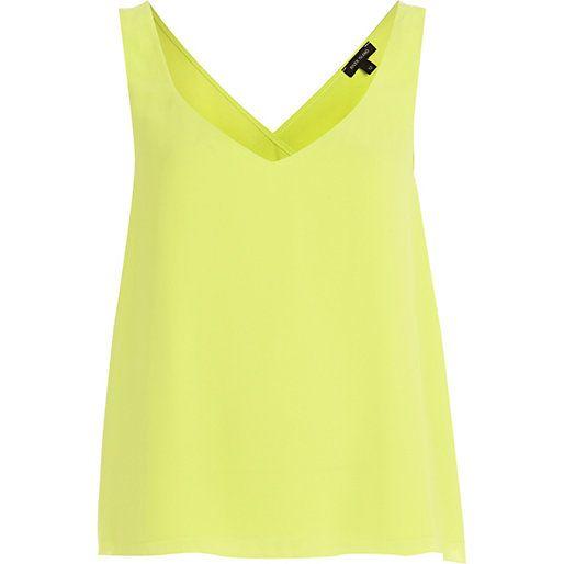 Lime wrap back vest #riverisland
