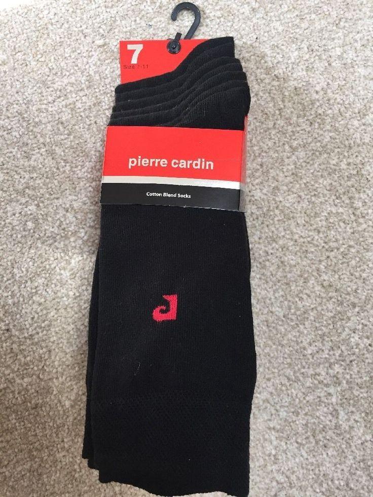 7 pack PIERRE CARDIN Cotton Blend Design sock set Size UK7-11 BNWT Black & Red P