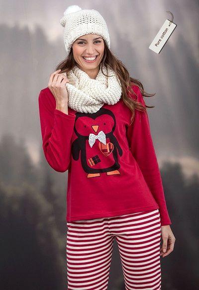 Pijama invierno mujer Massana modelo PINGÜINO. http://www.perfumeriaelajuar.com/homewear/pijama-mujer-invierno-/30/