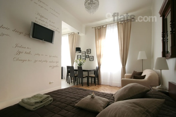 Krakow, Poland: Elegant one bedroom apartment with view over the city center