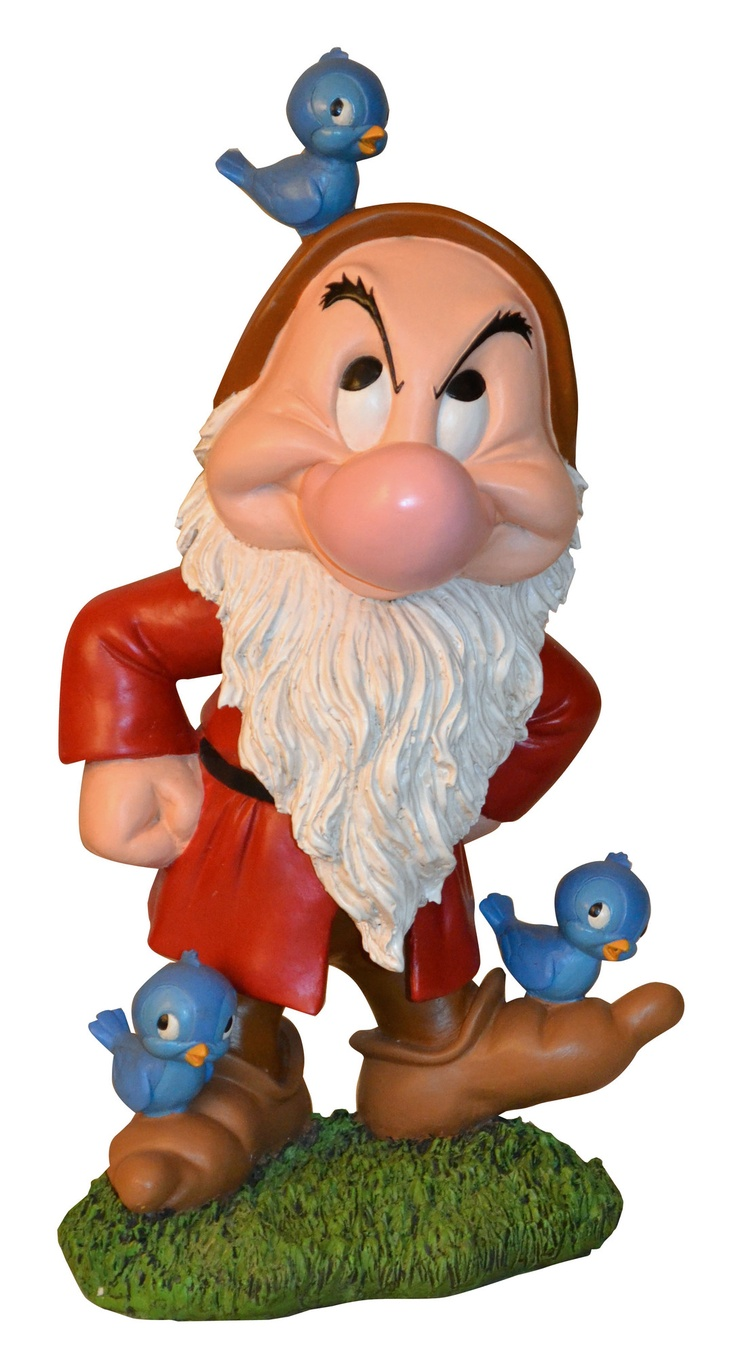Woods International Disney Grumpy with Bluebirds Statue