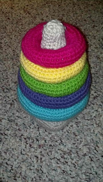 Ravelry: Crochet Baby Ring Stacking Toy pattern by Erin Alldredge