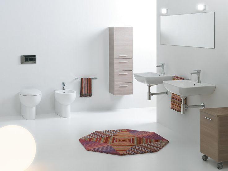 Wc e Bidet serie Soft abbinati a lavabi cover 58