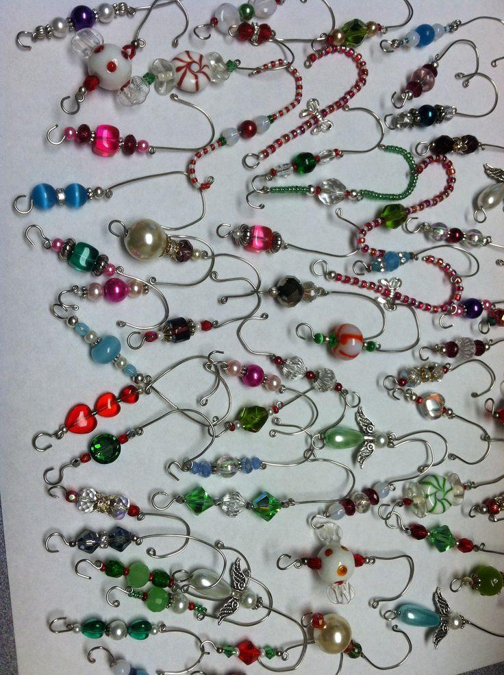 Beaded Ornament Hooks - why use boring hooks!