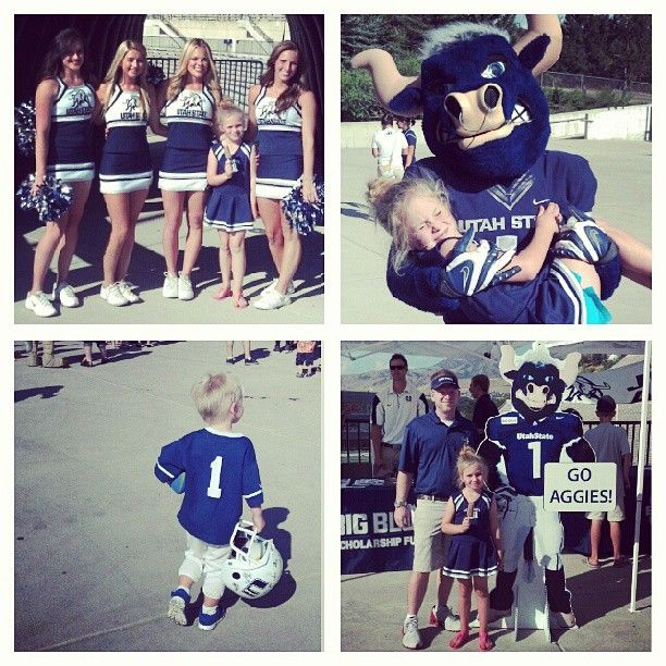 Aggie Football Family Fun Day. @aggiefan33 can hardly wait for Game Day! #usuaggies #usu #aggielife #aggiefootball