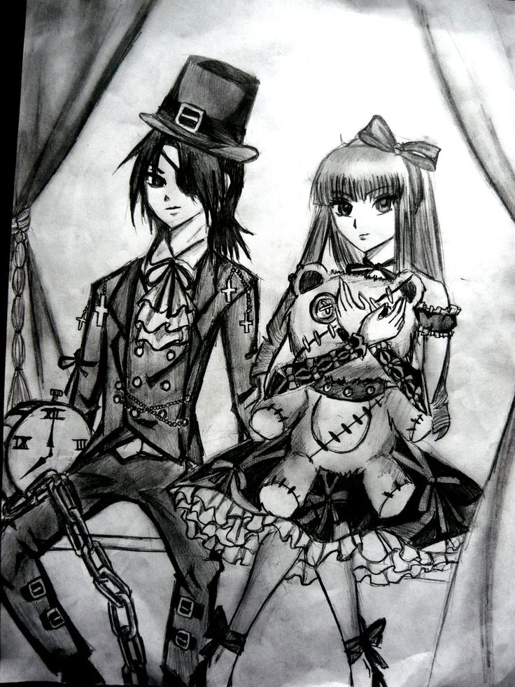 gothic lolitta drawing | gothic lolita and kodona by ...